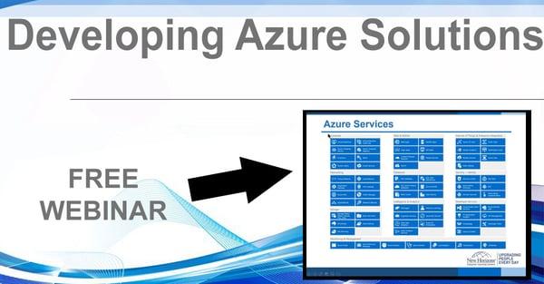 NHLG x Developing Azure Solutions Youtube Image